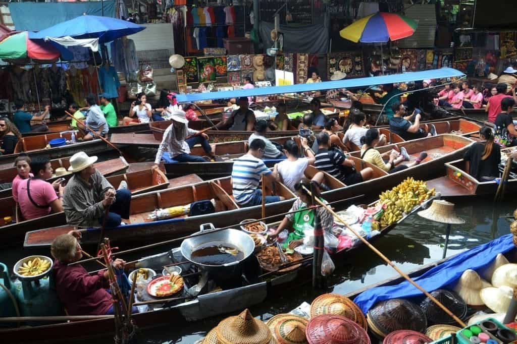 Floating market in Bangkok, Thailand