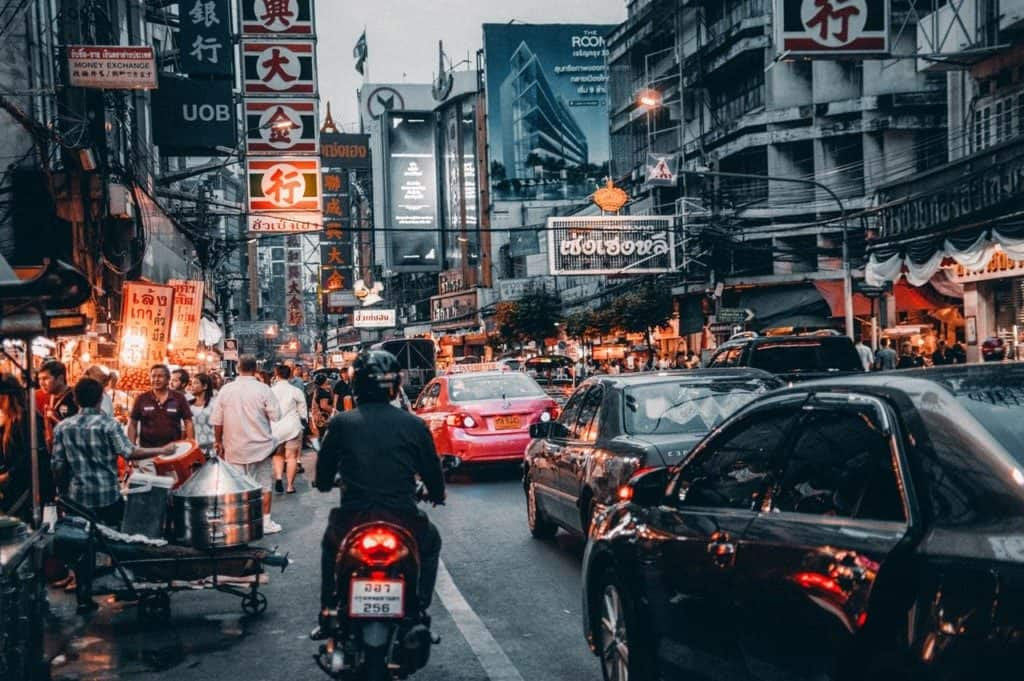 Busy streets in Bangkok