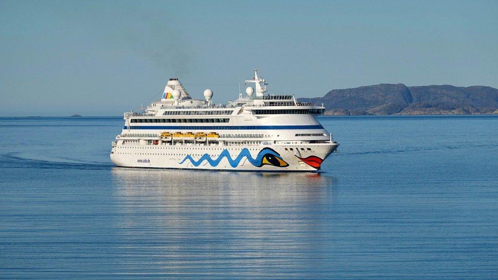 Aida cruise ship cruising around Greenland