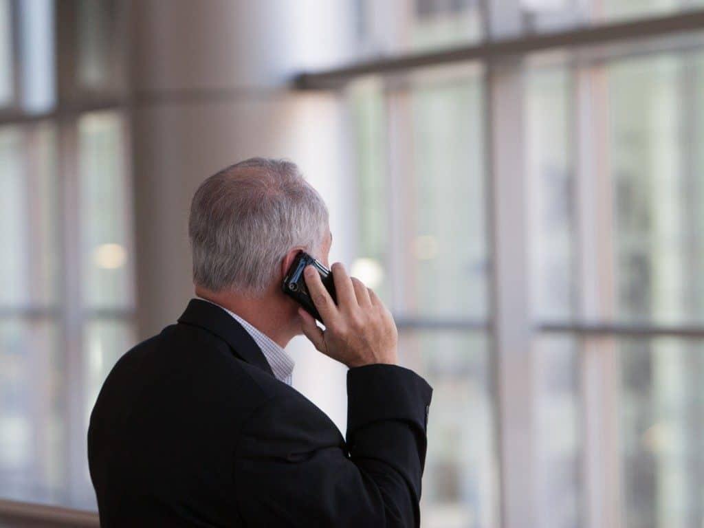 Business man making a phone call