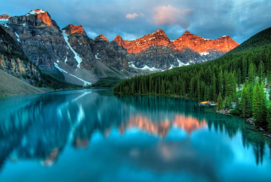 Lake in Banff, Alberta, Canada