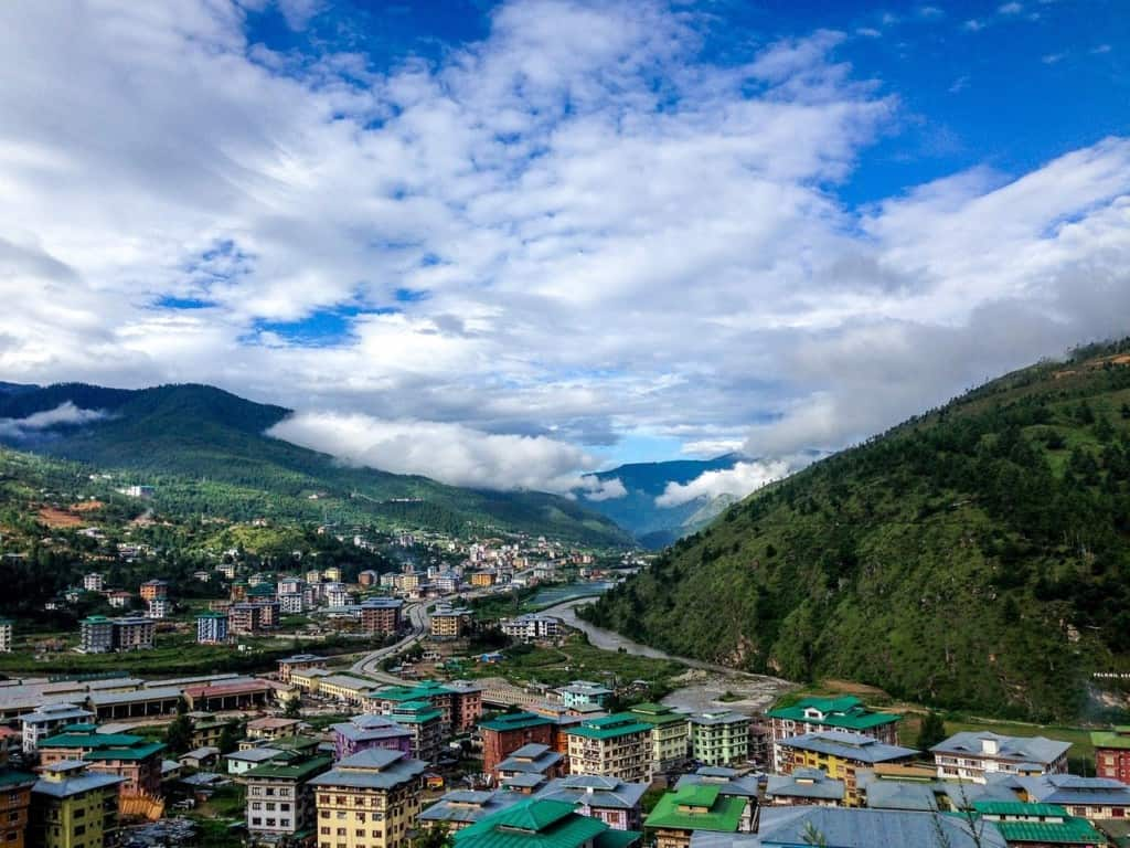 Overview of a city Bhutan