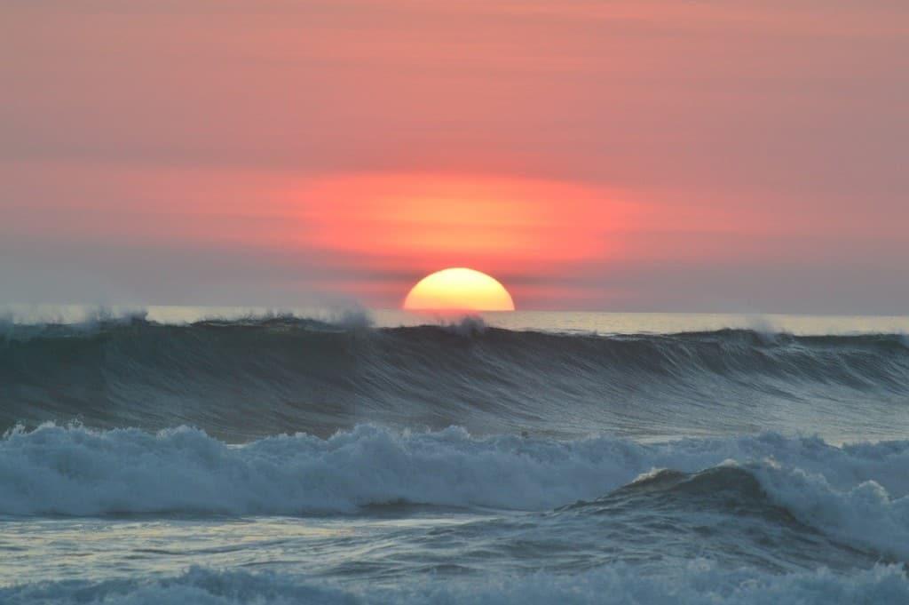 Sunset at a beach in Costa Rica