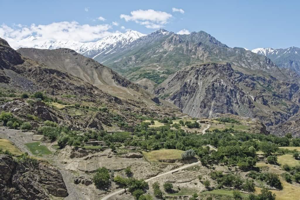 Mountains in Tajikistan