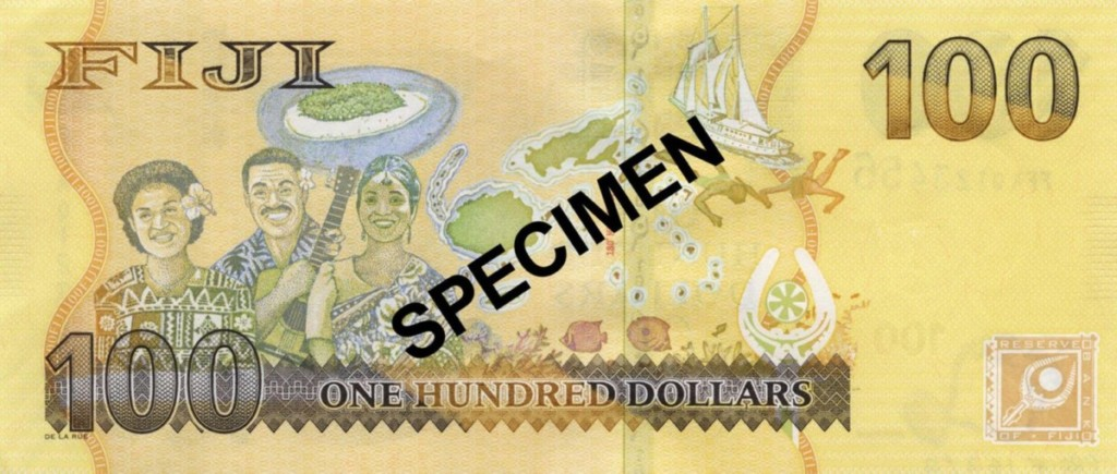100 Fijian Dollar Bank Note