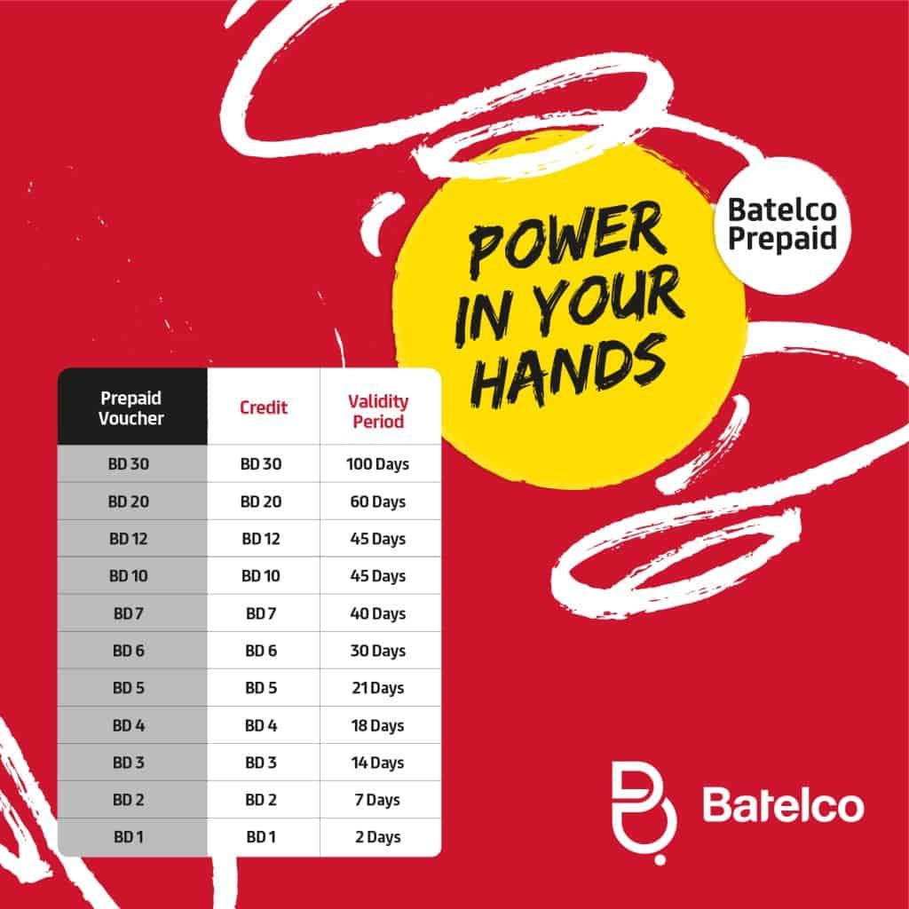 Batelco Prepaid Recharge