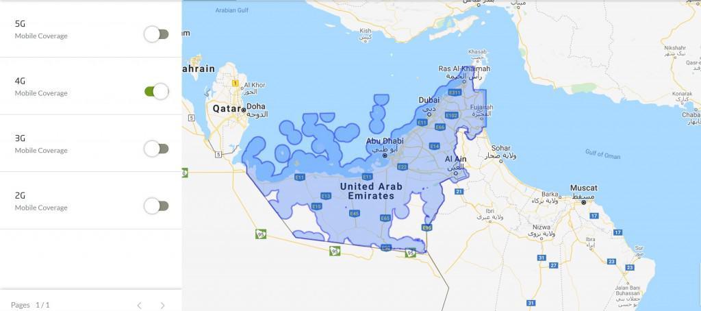 Etisalat UAE 4G Coverage