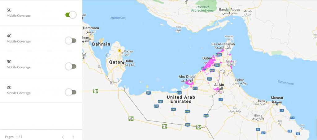 Etisalat UAE 5G Coverage