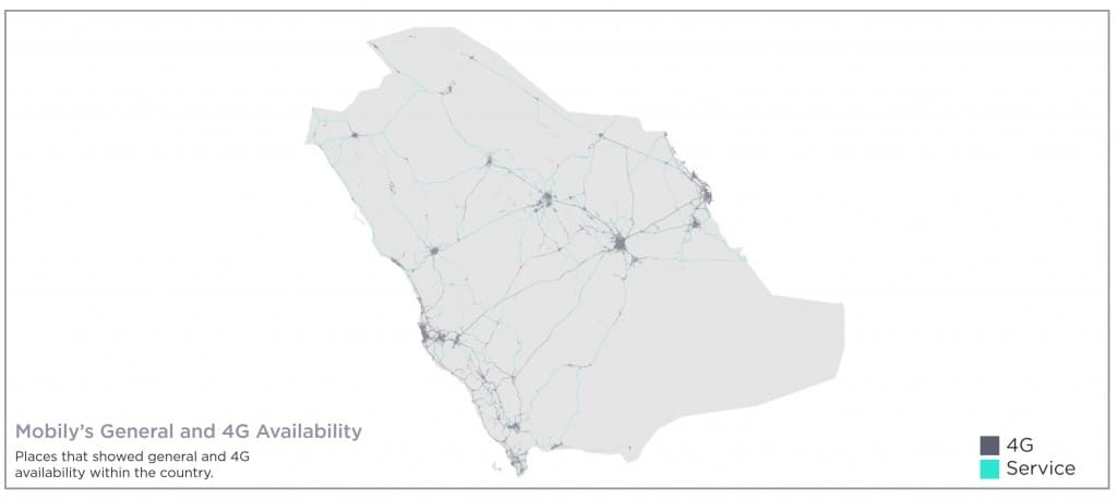 Mobily Coverage Map Speedtest Best Mobile Coverage Award & 4G Availability
