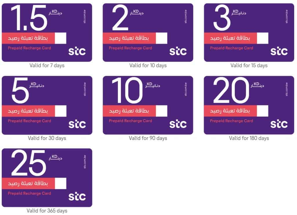 STC Recharge Cards