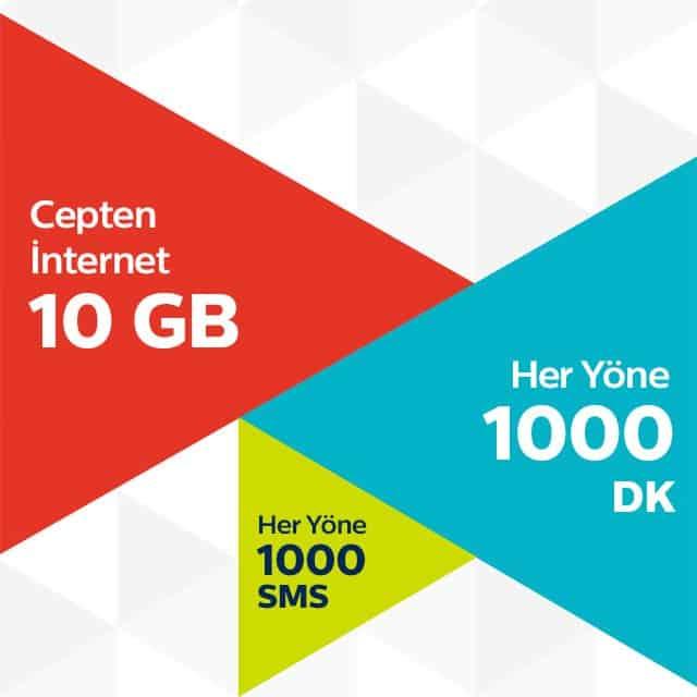 Türk Telekom 3 Ay Rahat 10 GB Paketi