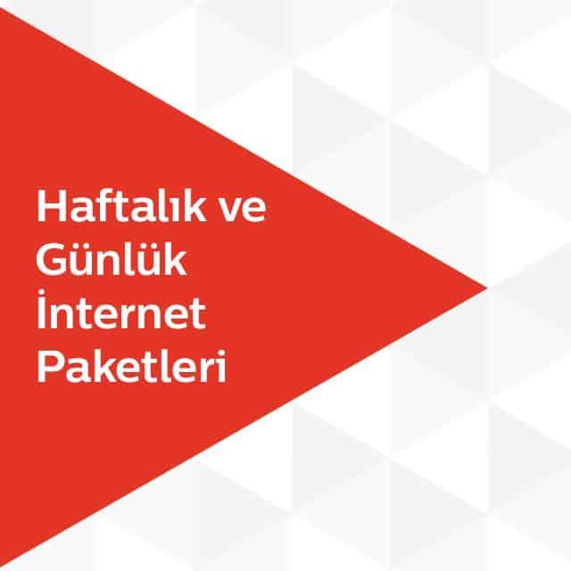 Türk Telekom Haftalık ve Günlük İnternet Paketleri