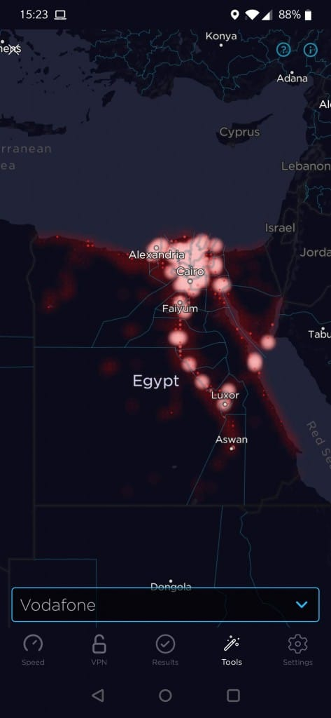Vodafone Egypt Coverage Map
