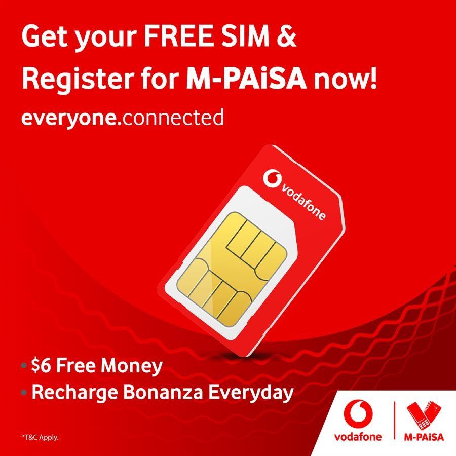 Vodafone Fiji Free SIM Card Offer