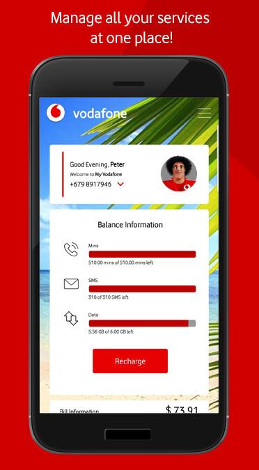 Vodafone Fiji My Vodafone Fiji App