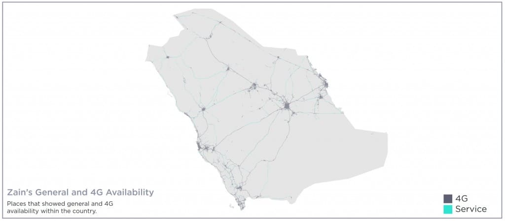 Zain Saudi Arabia Coverage Map Speedtest Best Mobile Coverage Award & 4G Availability