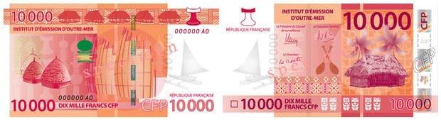 10 000 CFP Franc Bank Note