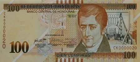 100 Honduran Lempira Note