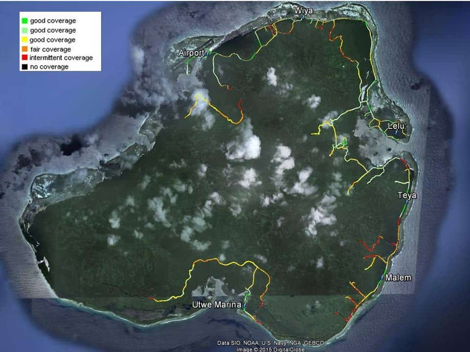 FSM Telecom Coverage on Kosrae