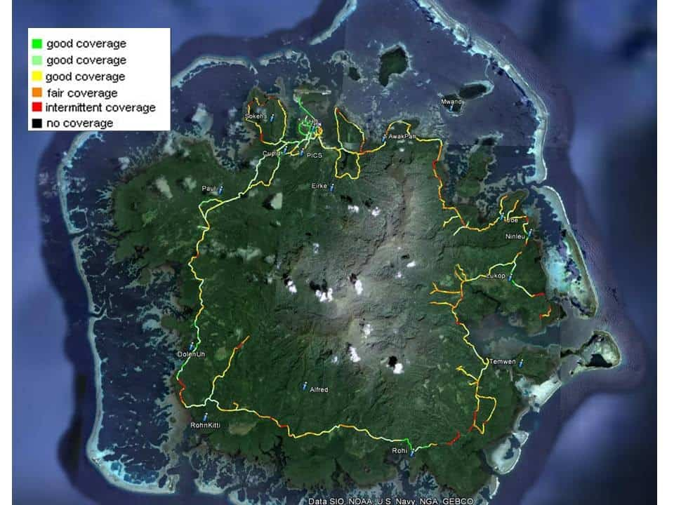 FSM Telecom Coverage on Pohnpei