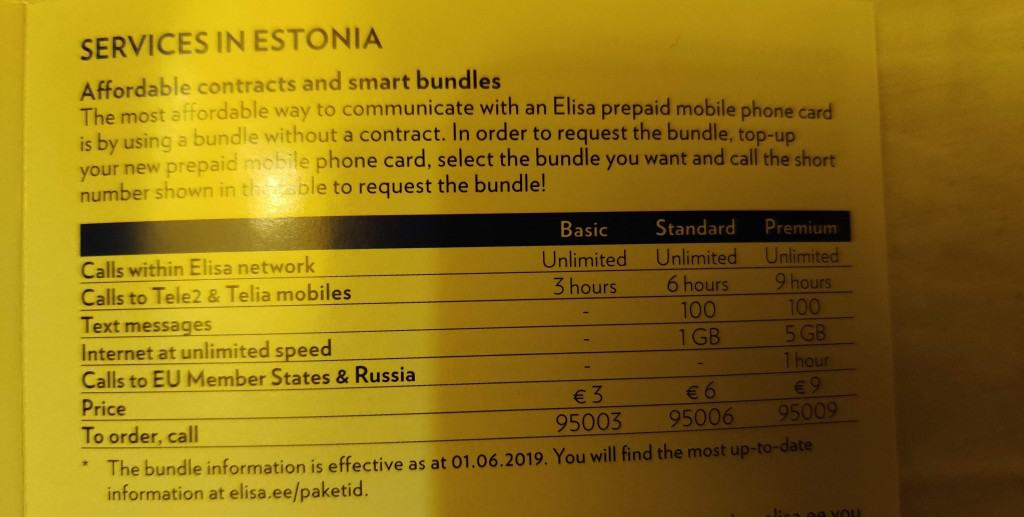 Elisa Combo packs as shown in their starter manual