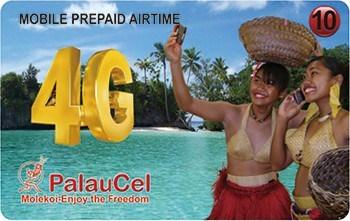 PalauCel 10 USD Recharge Card