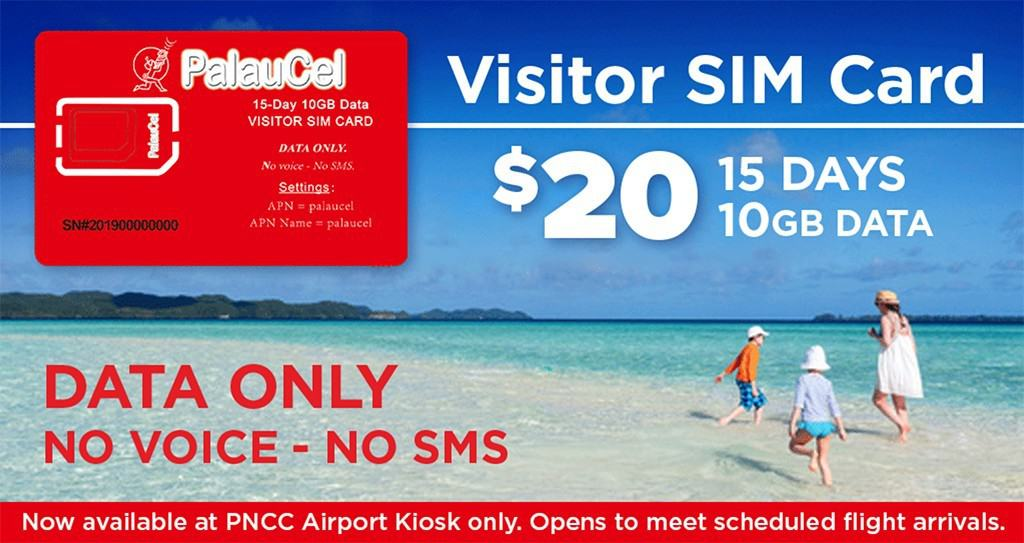 PalauCel Visitor SIM Card
