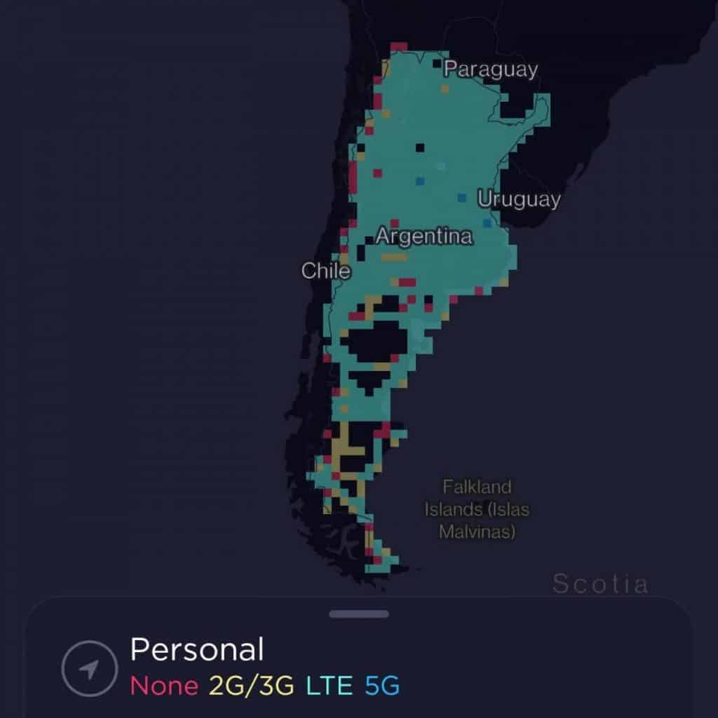 Personal Coverage Map
