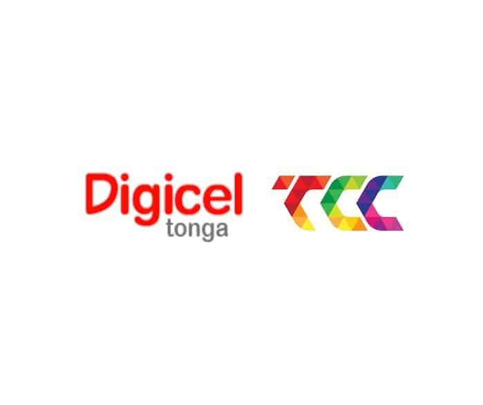 Logos of Telecom Providers in Tonga: Digicel Tonga and TCC U-Call