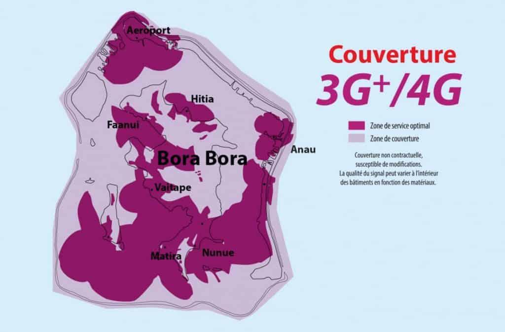 Vini Bora Bora 3G-4G Coverage Map