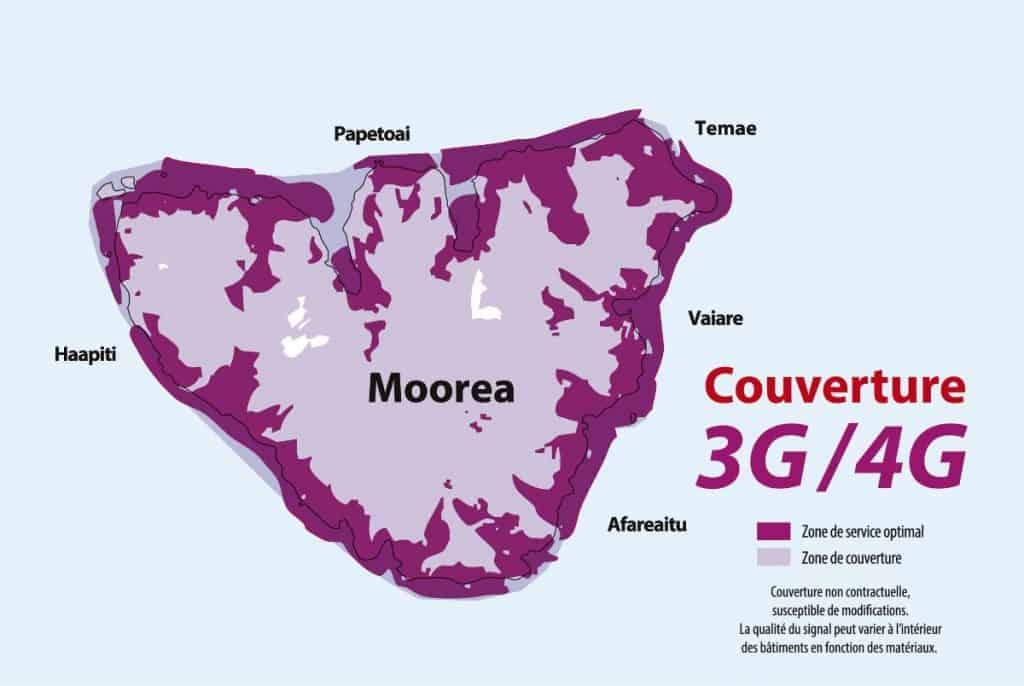 Vini Mo'Orea 3G-4G Coverage Map
