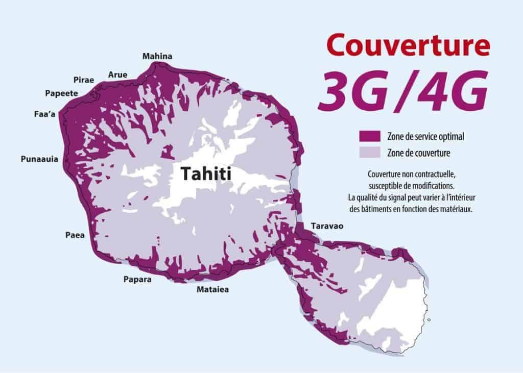 Vini Tahiti 3G-4G Coverage Map
