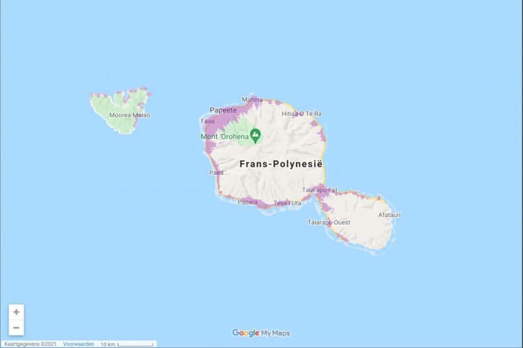 Vodafone Polynesia 3G & 4G-LTE Coverage Map on Tahiti & Mo'orea