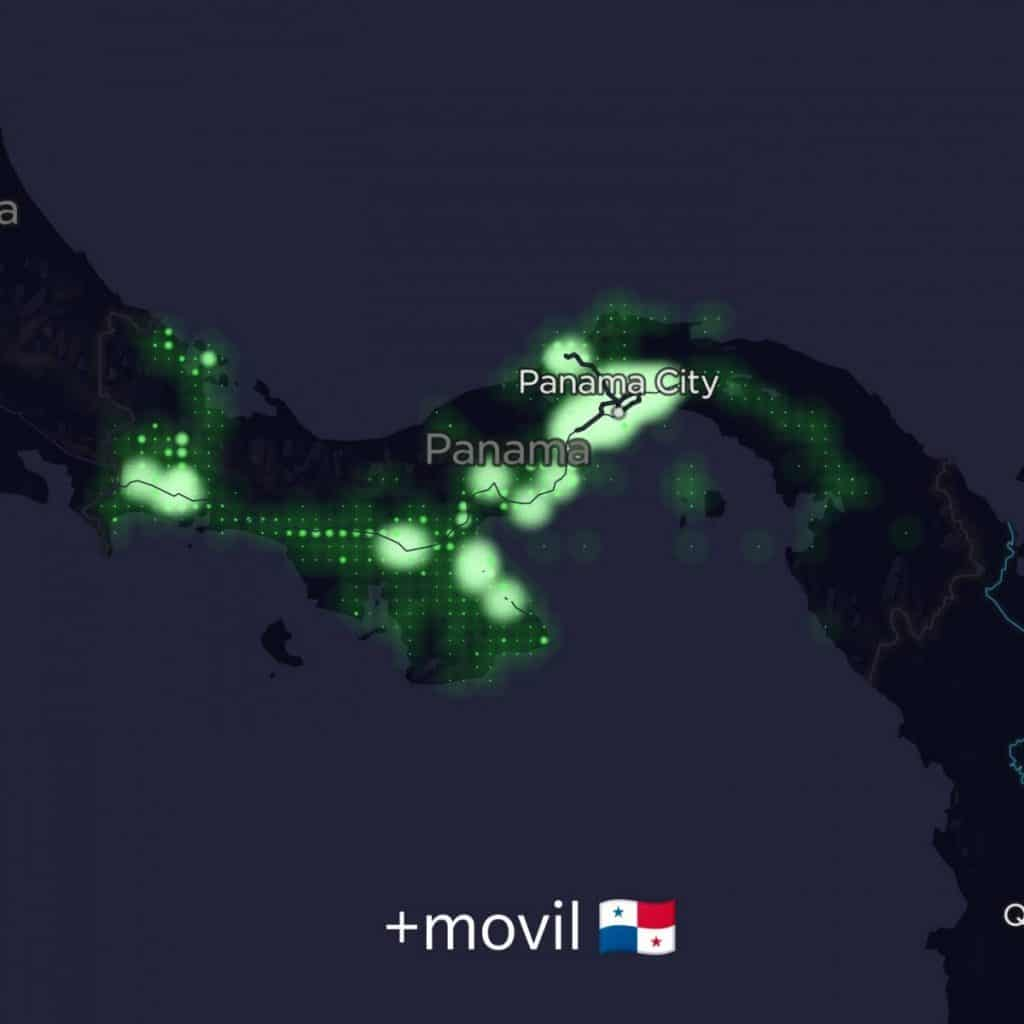 +móvil Coverage Map