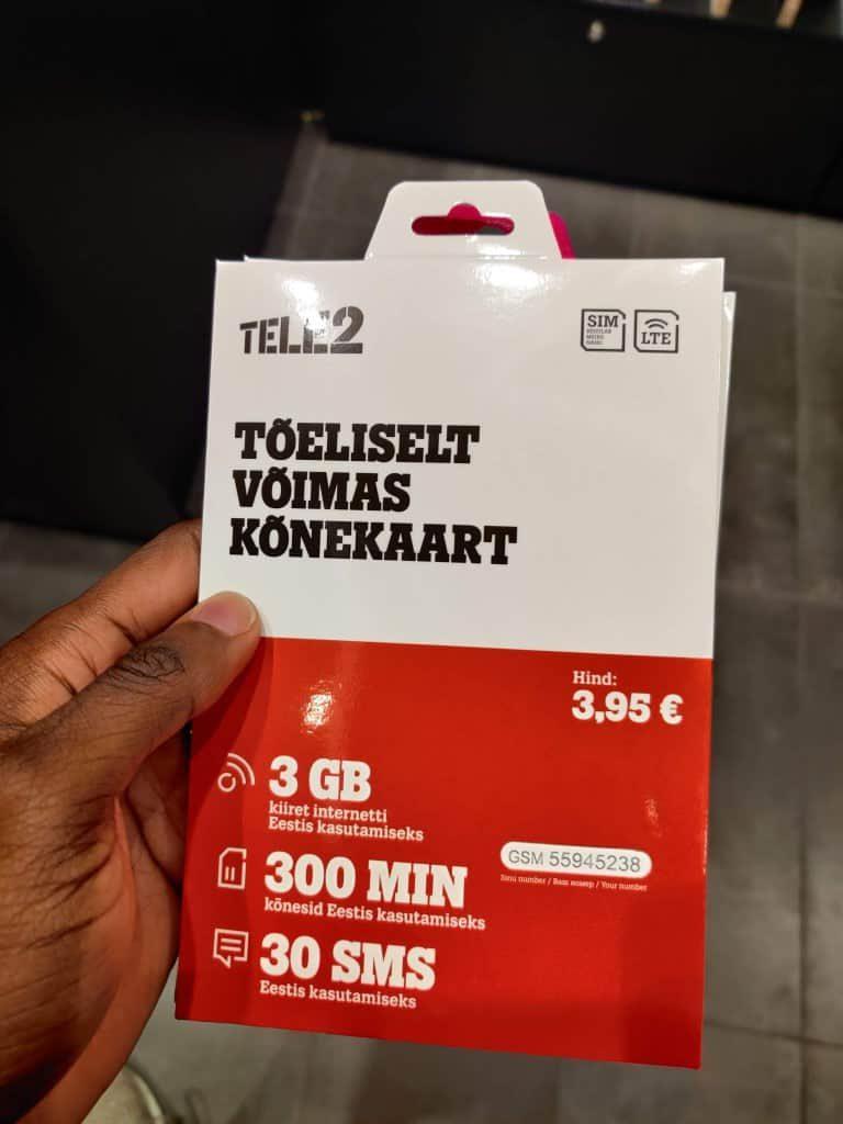 Tele2 Estonia SIM card starter pack