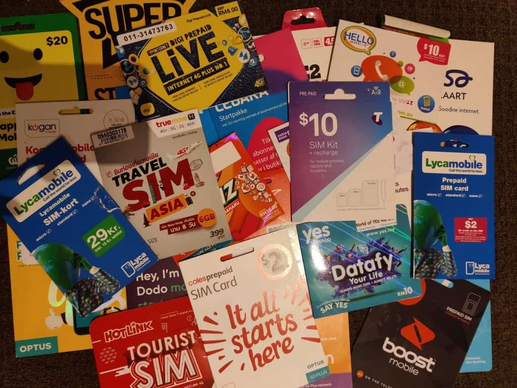 A bunch of local and international SIM cards tested by Adu