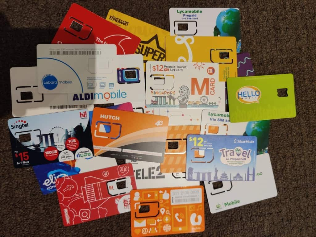 A bunch of Local SIM cards tested by Adu