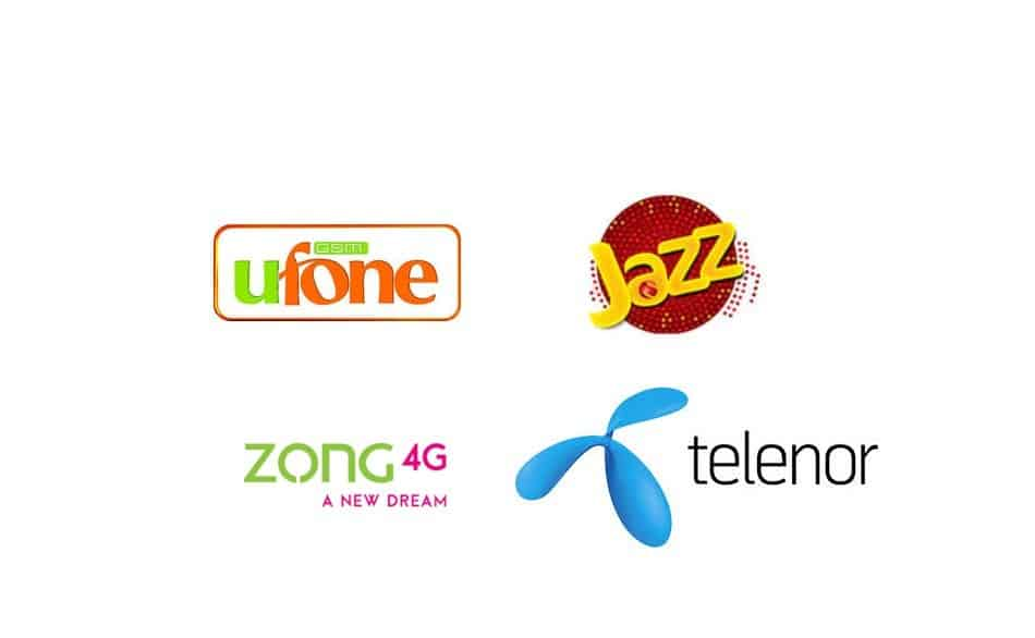 Logos of Telecom Providers in Pakistan: Ufone, Jazz, Zong, and Telenor