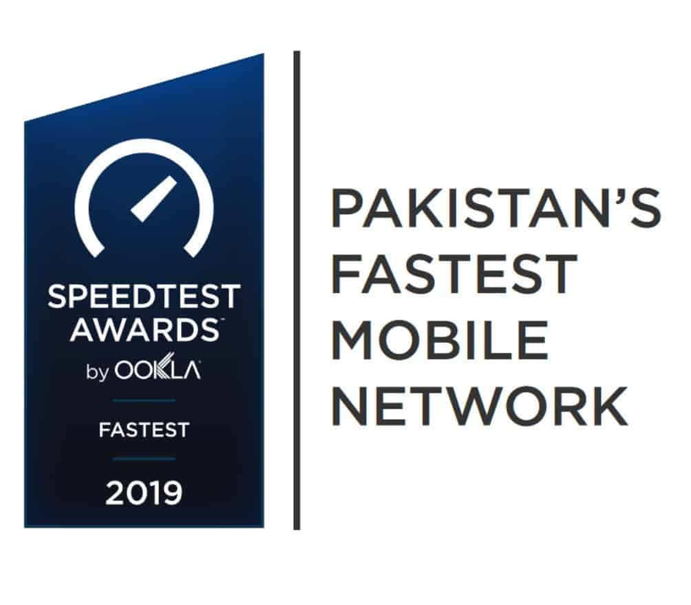 Speedtest Awards Pakistan's Fastest Mobile Network 2019 Award