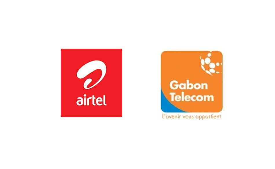 Logos of Telecom Providers in Gabon; Airtel and Gabon Telecom