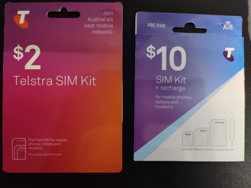 New vs. Old Telstra Prepaid starter packs