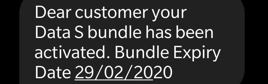 Lycamobile Denmark bundle activation confirmation message