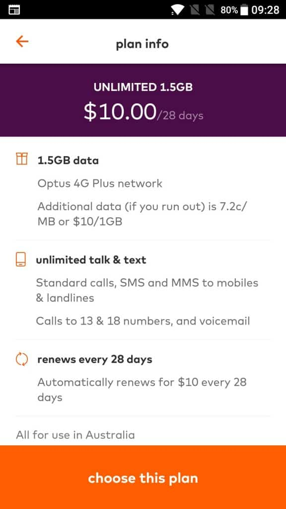 Amaysim app - $10 UNLIMITED plan perks