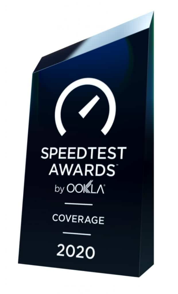 Speedtest Awards by Ookla - Coverage - 2020