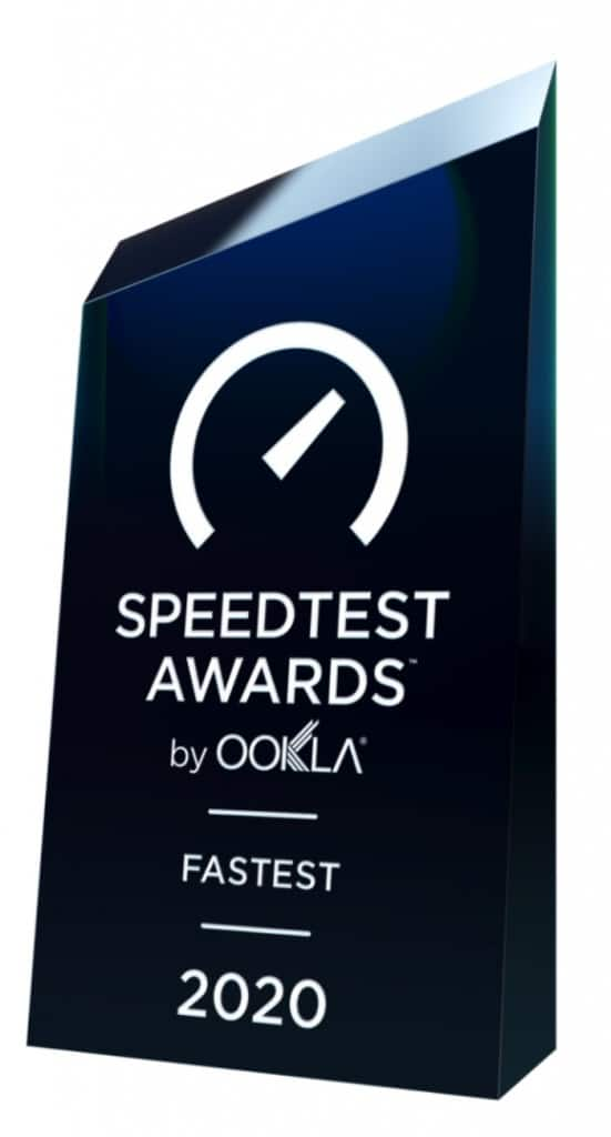 Speedtest Awards by Ookla - Fastest - 2020