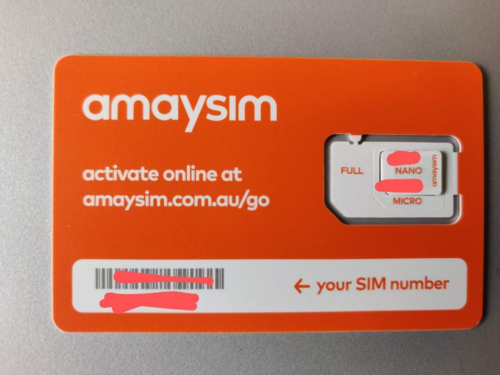 Amaysim SIM card