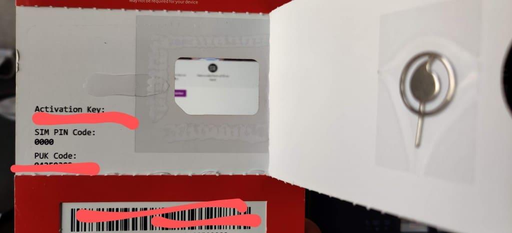Vodafone Prepaid SIM Card
