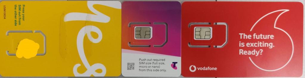 SIM cards in Australia: Telstra, Optus & Vodafone Australia