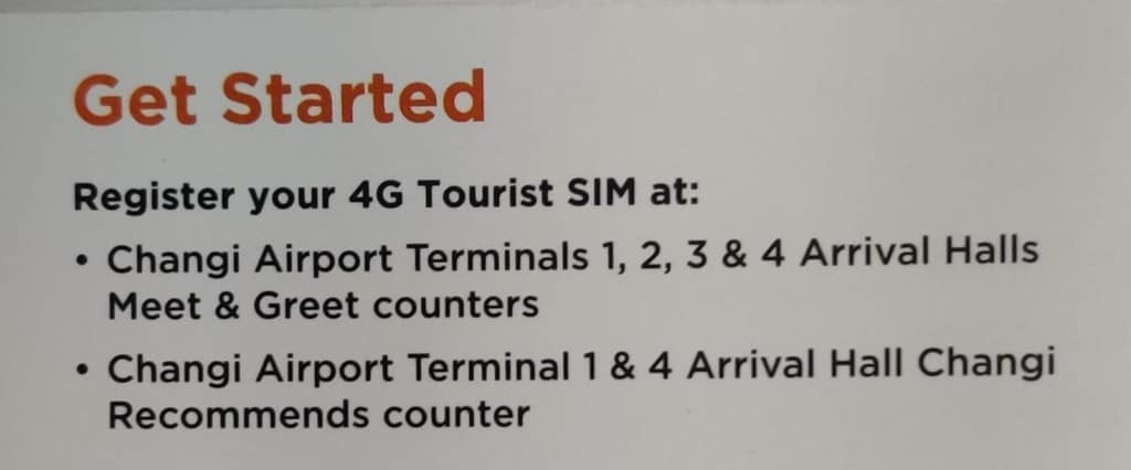 M1 Tourist SIM Card activation steps