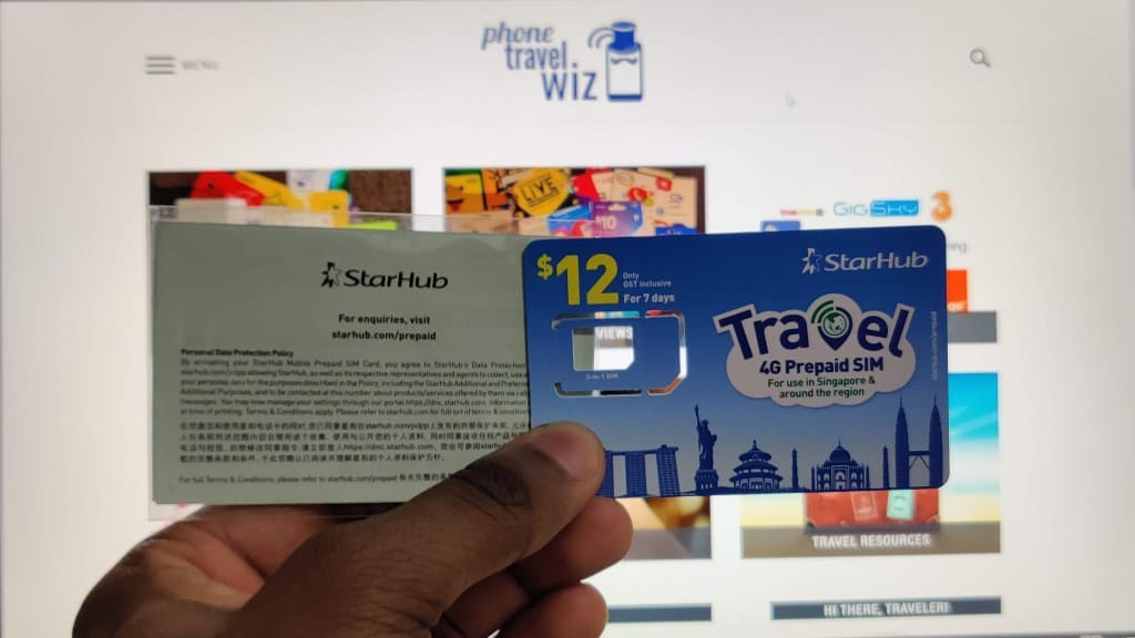 StarHub Travel SIM Card